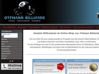 Ortmann Billiards - Gütesiegel, Bewertungen, Erfahrungen